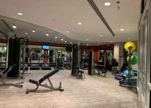 American Real Estate Partners Management fitness center flooring